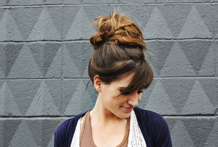 Simple, Elegant And Twisted Topknot